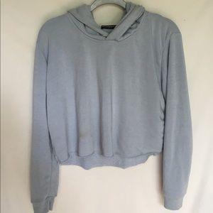 Light blue brandy Melville cropped hoodie